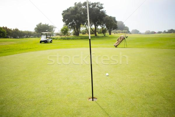 Golfbaan gras sport groene vakantie Stockfoto © wavebreak_media