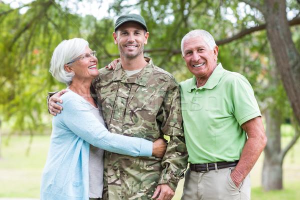 солдата родителей дерево весны человека Сток-фото © wavebreak_media
