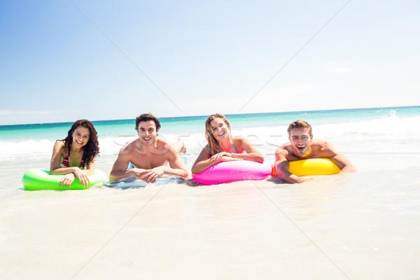 幸せ 友達 インフレータブル マットレス 水 ストックフォト © wavebreak_media