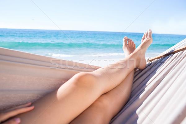 Woman relaxing in the hammock Stock photo © wavebreak_media