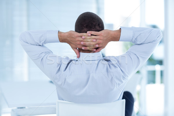 вид сзади бизнесмен расслабляющая Председатель служба человека Сток-фото © wavebreak_media