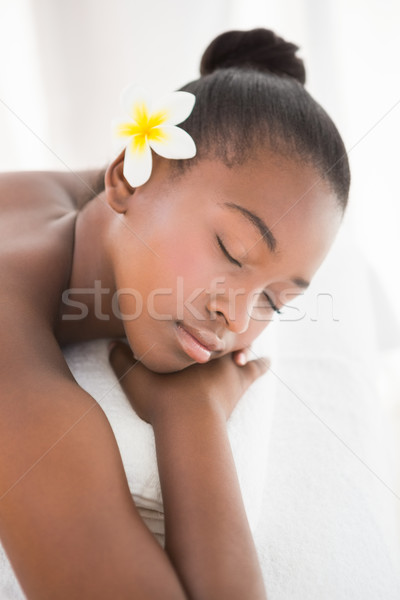 Pretty woman lying on massage table  Stock photo © wavebreak_media