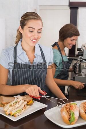 Cute Coppia insieme home cucina Foto d'archivio © wavebreak_media