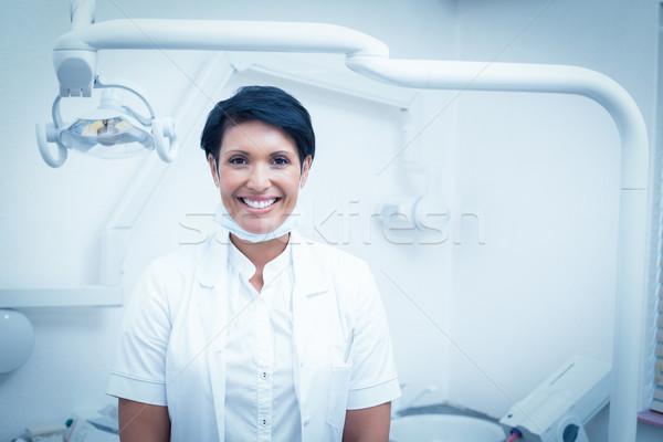 Portret vrouwelijke tandarts gelukkig baan permanente Stockfoto © wavebreak_media