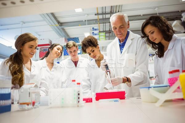 Diákok néz előadó labor egyetem számítógép Stock fotó © wavebreak_media
