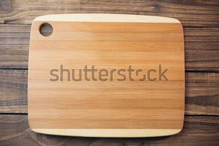 Houten tafel shot studio keuken Stockfoto © wavebreak_media