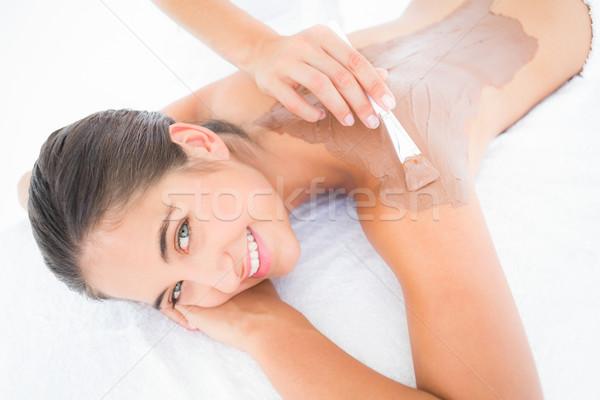 Beautiful brunette enjoying a chocolate beauty treatment  Stock photo © wavebreak_media
