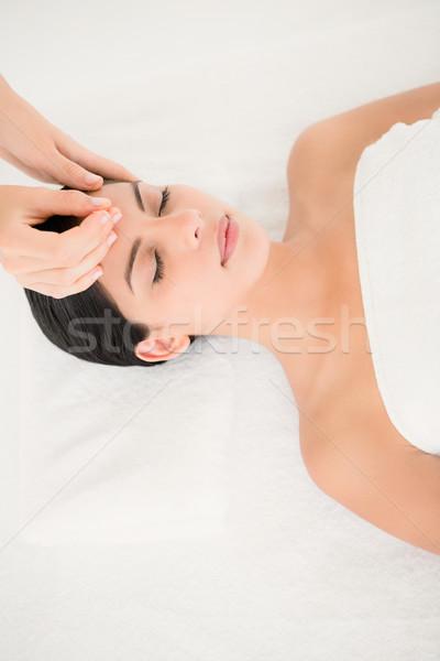 Mujer acupuntura terapia spa cara cuerpo Foto stock © wavebreak_media