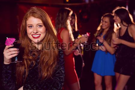 Stock photo: Directly below shot of friends standing in club