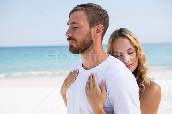 Cariñoso Pareja playa pie Foto stock © wavebreak_media