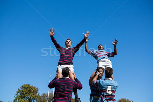 Widoku rugby gracze Zdjęcia stock © wavebreak_media