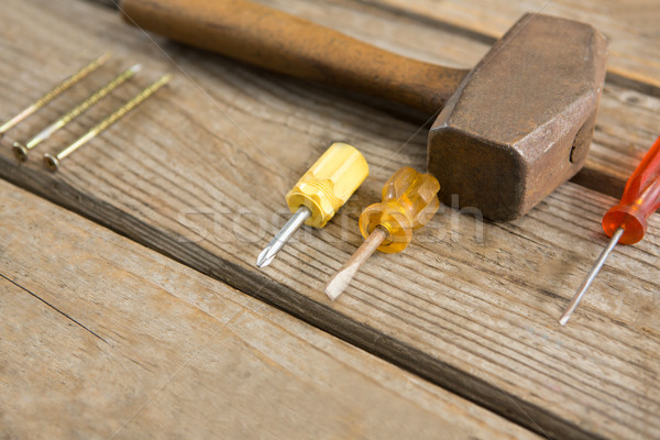 Close up of work tools on table Stock photo © wavebreak_media