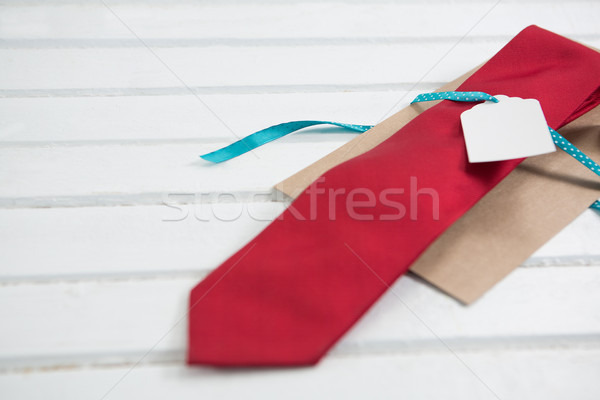 High angle view of red necktie on table Stock photo © wavebreak_media