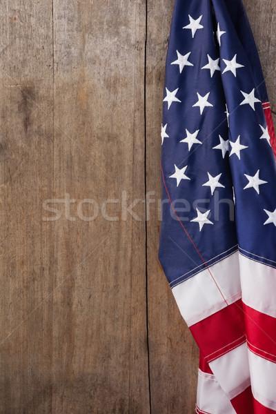 Amerikaanse vlag houten tafel vlag vrijheid vakantie Stockfoto © wavebreak_media