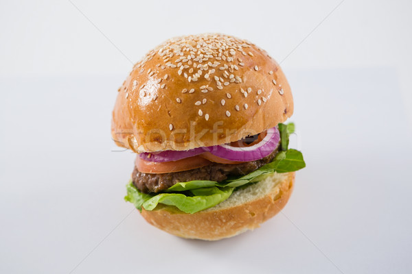 Close up of sesame seed on hamburger Stock photo © wavebreak_media