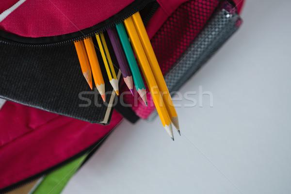 Fournitures scolaires livre rouge couleur Photo stock © wavebreak_media
