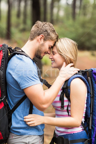 Young happy hiker couple touching foreheads Stock photo © wavebreak_media