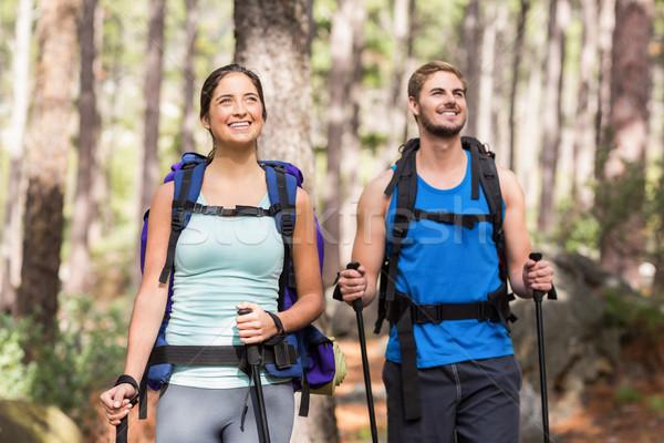 Happy joggers standing Stock photo © wavebreak_media