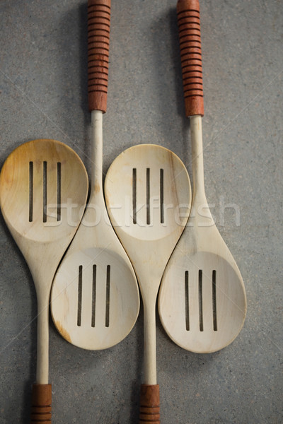 High angle view of spatulas on table Stock photo © wavebreak_media