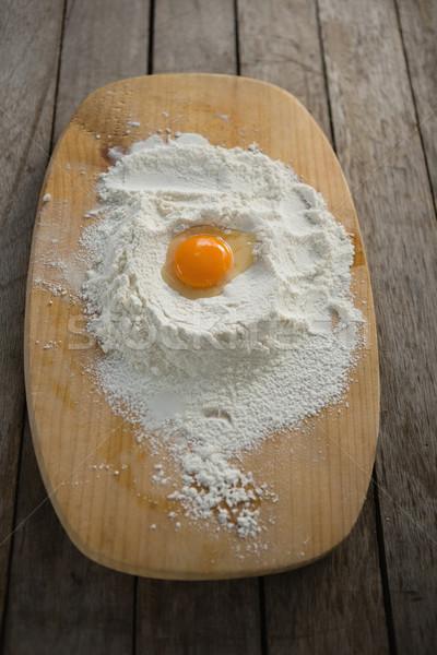 View uovo tuorlo farina tagliere Foto d'archivio © wavebreak_media