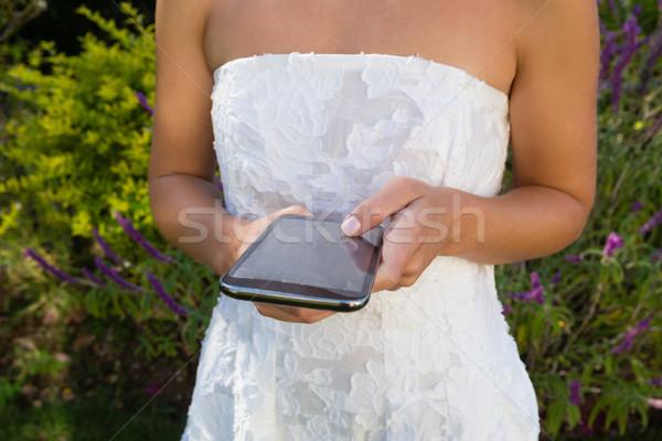 Bruid permanente planten vrouw hand Stockfoto © wavebreak_media