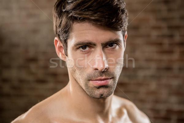 Portré komoly férfi tornaterem fitnessz egészség Stock fotó © wavebreak_media