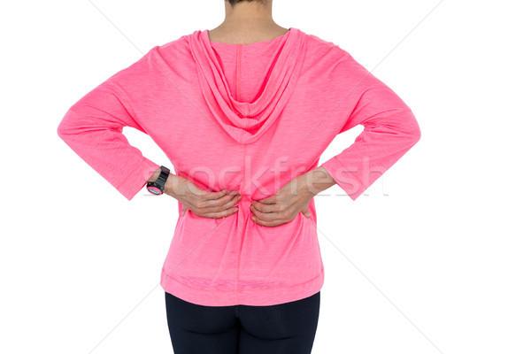 Mulher madura de volta branco Foto stock © wavebreak_media
