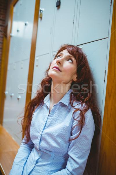 Volwassen student gevoel gang universiteit Stockfoto © wavebreak_media