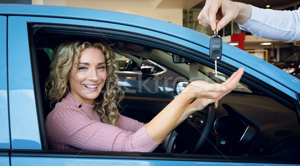 Görüntü el tuşları müşteri oturma araba Stok fotoğraf © wavebreak_media