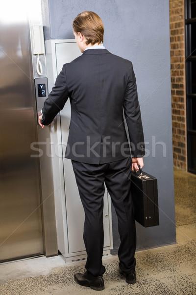 ビジネスマン エレベーター ボタン オフィス 執行 ストックフォト © wavebreak_media