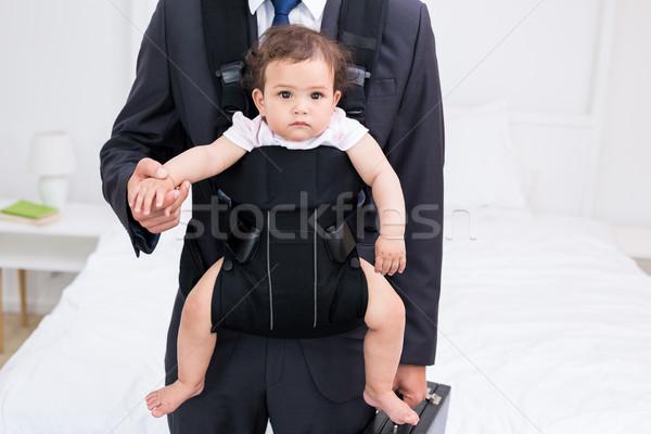 Baba bebek evrak çantası ev ev Stok fotoğraf © wavebreak_media