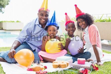 幸せ 多世代家族 誕生日パーティー ホーム 女性 家 ストックフォト © wavebreak_media