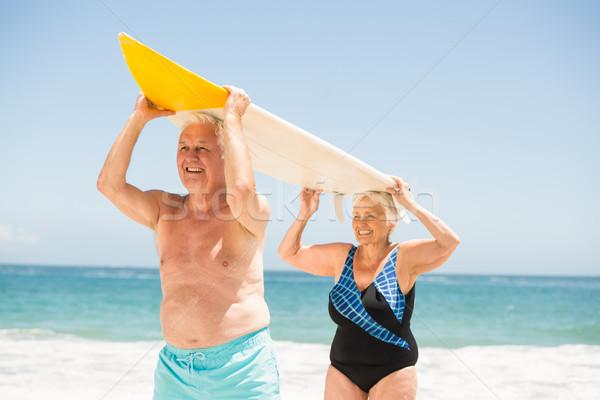 Sörf kadın mutlu Stok fotoğraf © wavebreak_media