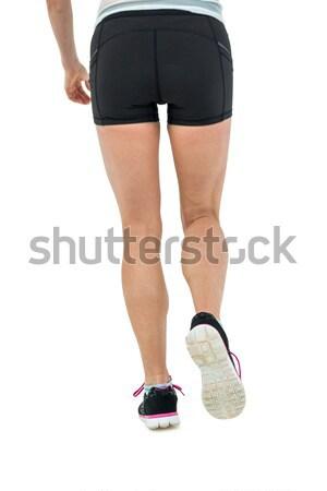 Achteraanzicht vrouwelijke atleet witte vrouw gezondheid Stockfoto © wavebreak_media