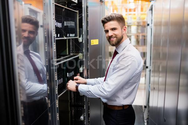 Technician examining server Stock photo © wavebreak_media