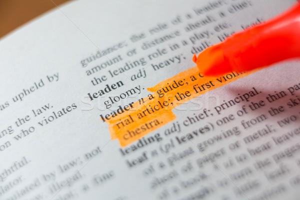 Close-up of marker pen highlighting text Stock photo © wavebreak_media