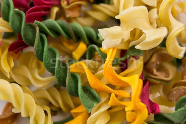 Raw multicolored rotini Stock photo © wavebreak_media