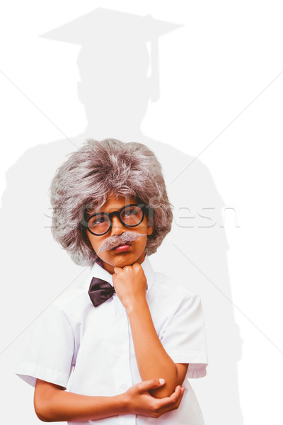Composite image of pupil dressed up in wig Stock photo © wavebreak_media