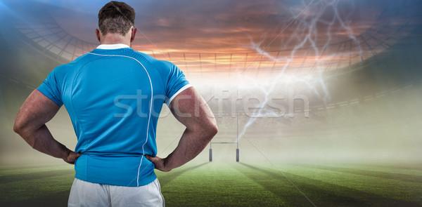 Görüntü rugby oyuncu eller kalça Stok fotoğraf © wavebreak_media