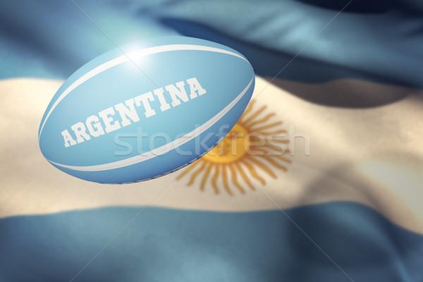 Image Argentine ballon de rugby pavillon blanche Photo stock © wavebreak_media