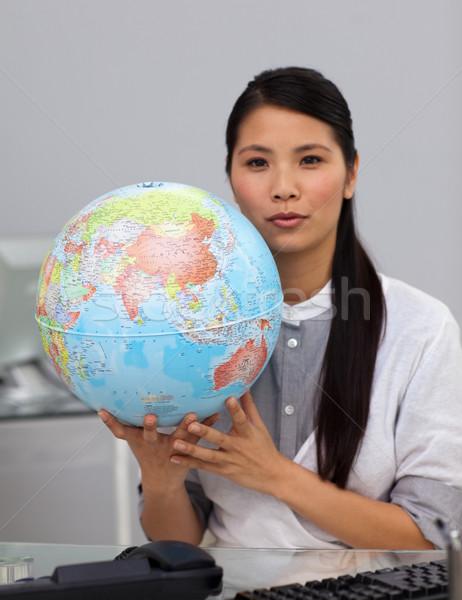 Encantador Asia mujer de negocios mundo oficina Foto stock © wavebreak_media