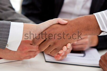 Close-up of businesspeople closing a deal Stock photo © wavebreak_media