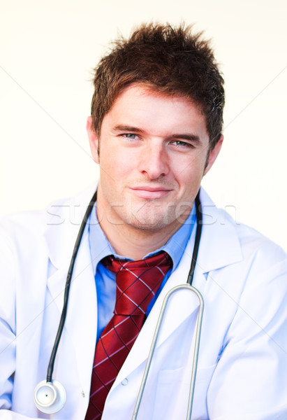 Ritratto giovani medico sorridere fotocamera attrattivo Foto d'archivio © wavebreak_media