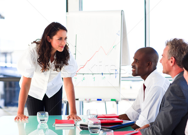 Businesswoman interacting with her colleagues after a presentati Stock photo © wavebreak_media