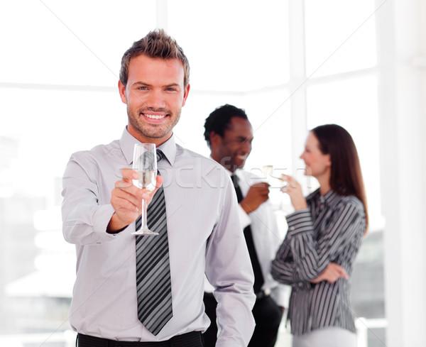 Empresário sucesso escritório negócio feliz Foto stock © wavebreak_media