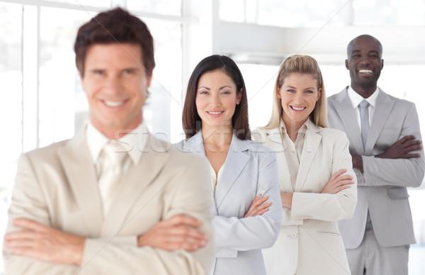 Portret biuro kobieta uśmiech spotkanie Zdjęcia stock © wavebreak_media