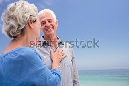 Donna marito spiaggia ragazza sorriso Foto d'archivio © wavebreak_media
