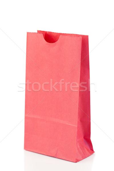 Różowy torby papierowe biały tle worek rynku Zdjęcia stock © wavebreak_media