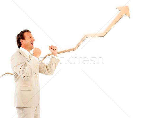 успешный бизнесмен кривая вверх стороны Сток-фото © wavebreak_media