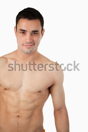 Jovem masculino topless branco esportes Foto stock © wavebreak_media